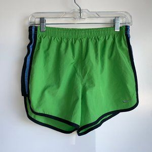 NIKE Dri-Fit Green Running Shorts with Liner Small